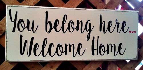 Image result for Welcome Home Sign